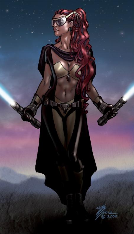 Miraluka Jedi by artbytravis
