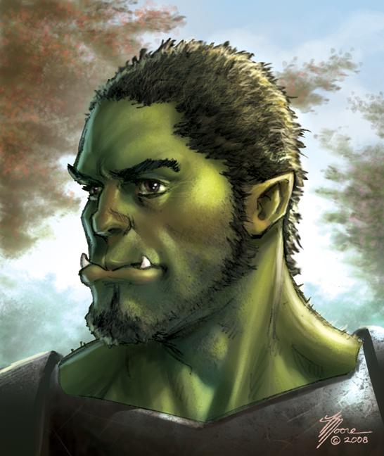Half Orc Portrait Portraits to Save by