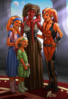 Twi'lek Family by artbytravis