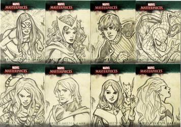 Marvel Sketch Cards Group 2 by artbytravis