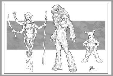 Star Wars Critters by artbytravis