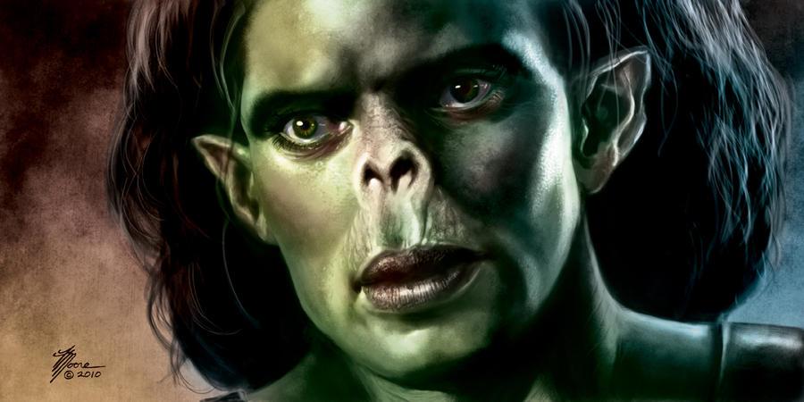 Half-orc Portrait by artbytravis