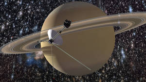 Voyager And Saturn