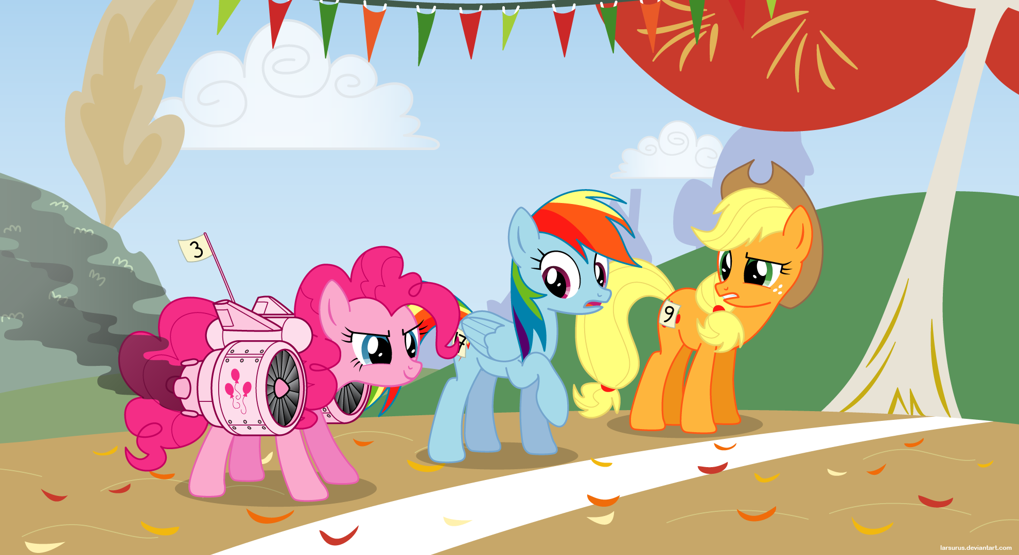 Running of the Leaves 2 - PNG