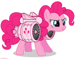 Jetpack Pinkie Pie - PNG