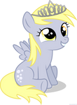 Little Derpy with tiara - PNG