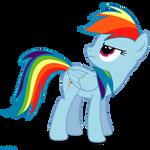 Rainbow Dash looking - PNG