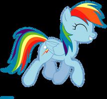 Happy Rainbow Dash - PNG by Larsurus