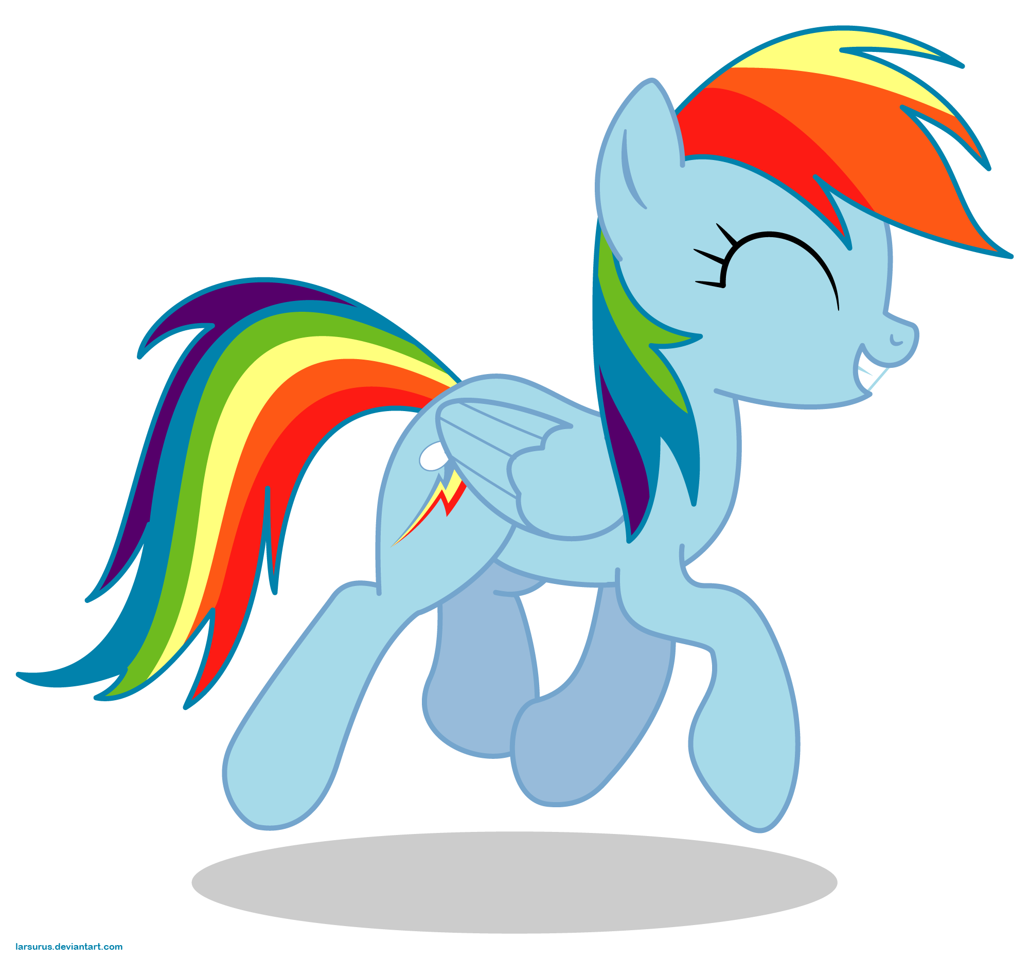 Rainbow Dash Png Happy Rainbow D...