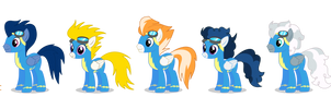 Official Wonderbolts lineup - PNG