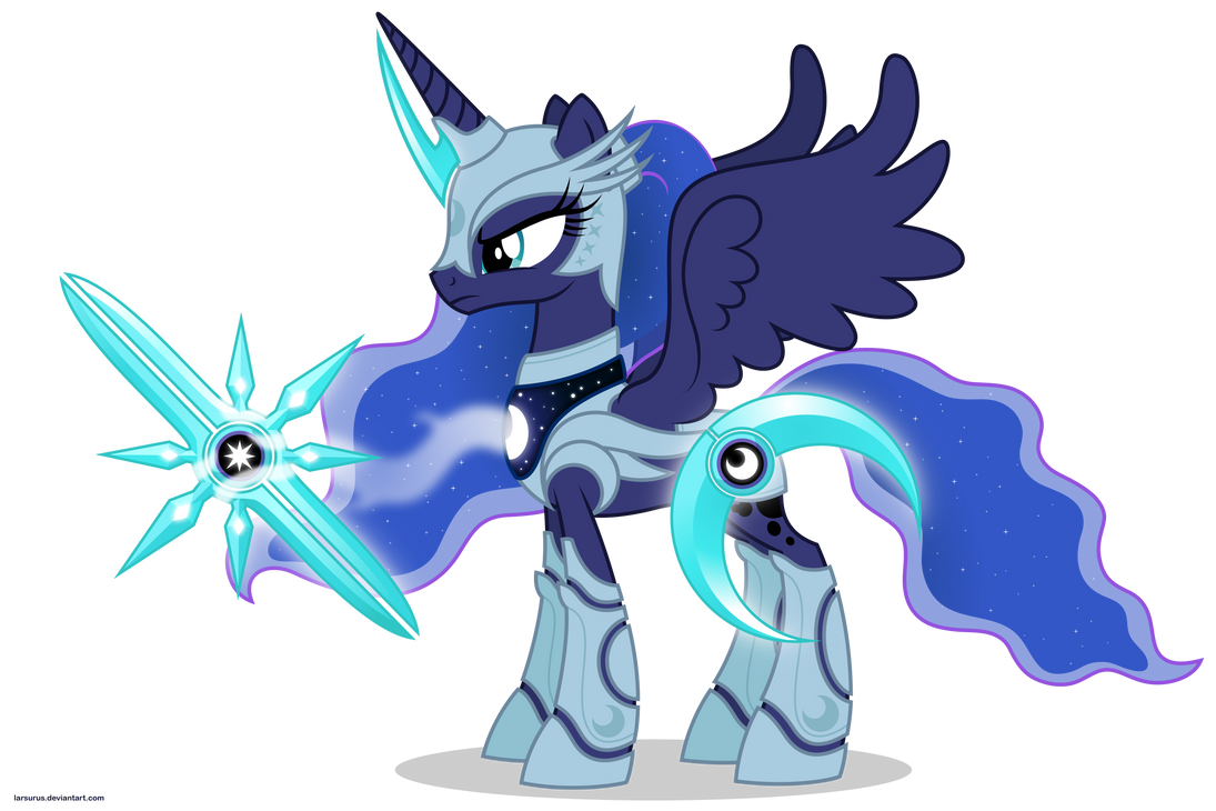 Luna in armor by Larsurus