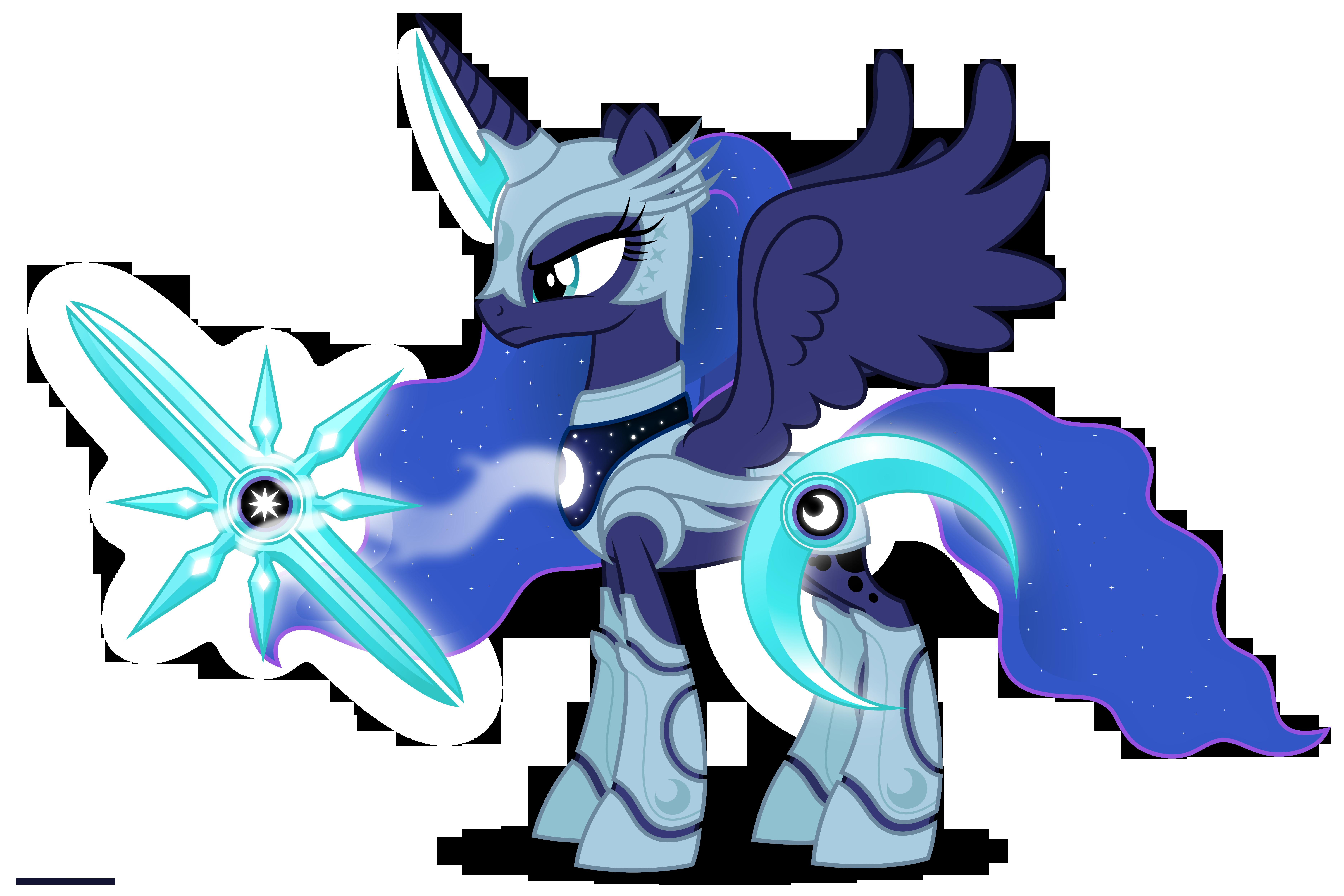 Luna in armor by Larsurus