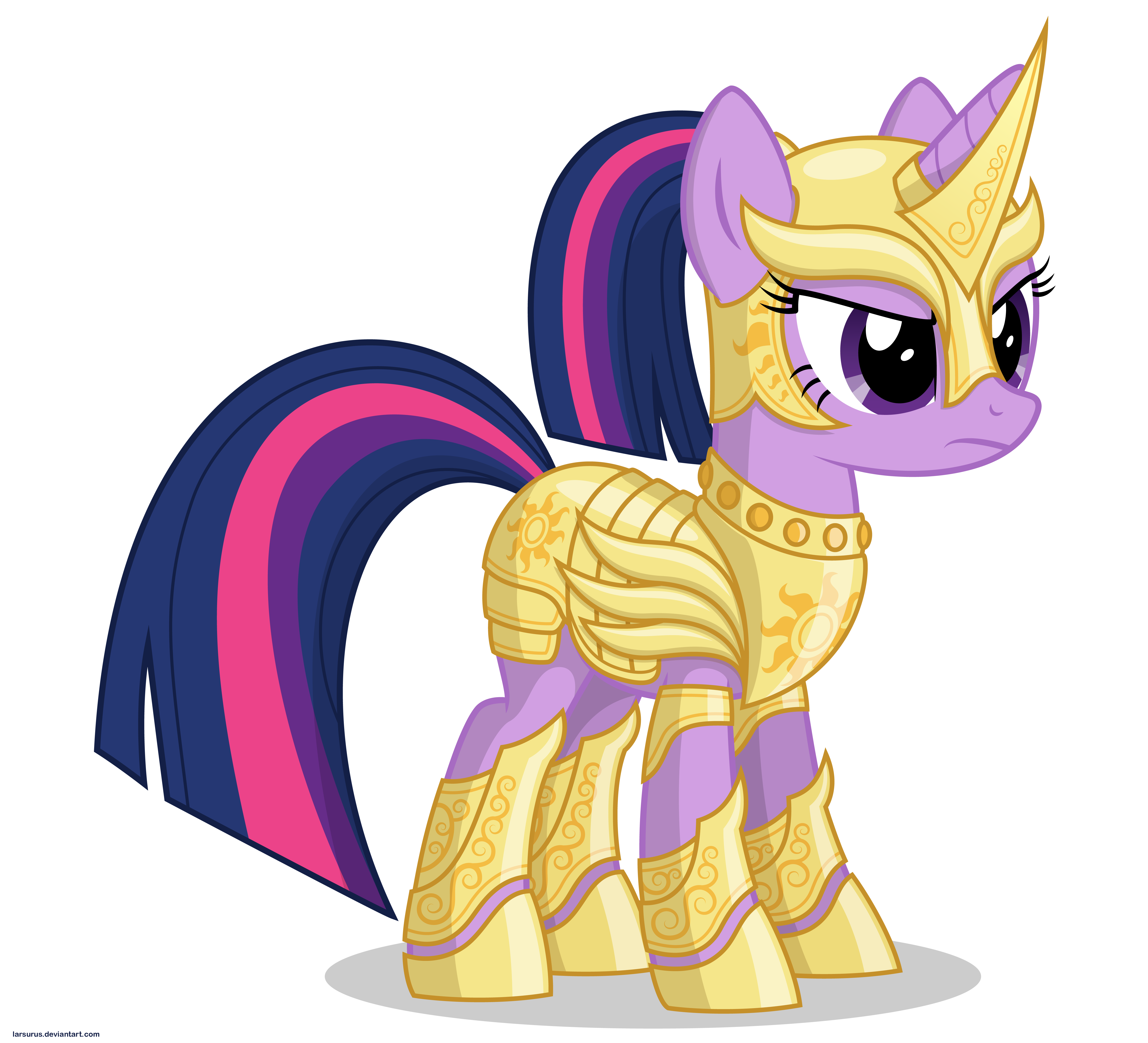 Twilight in armor by Larsurus