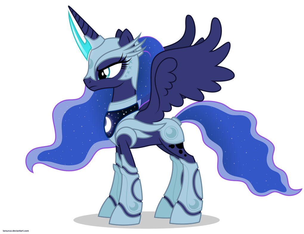 princess luna in armor by x