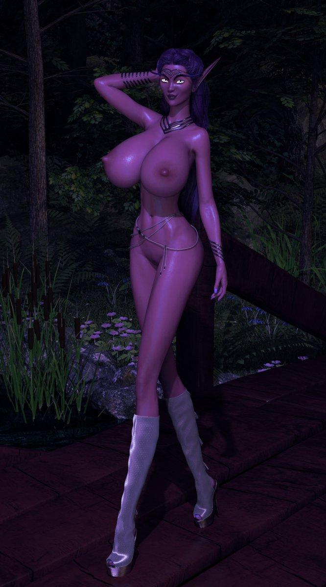 Lumera Moonflare, Highborne Sorceress by Windseeker04