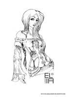 Sketch girl by Elia87