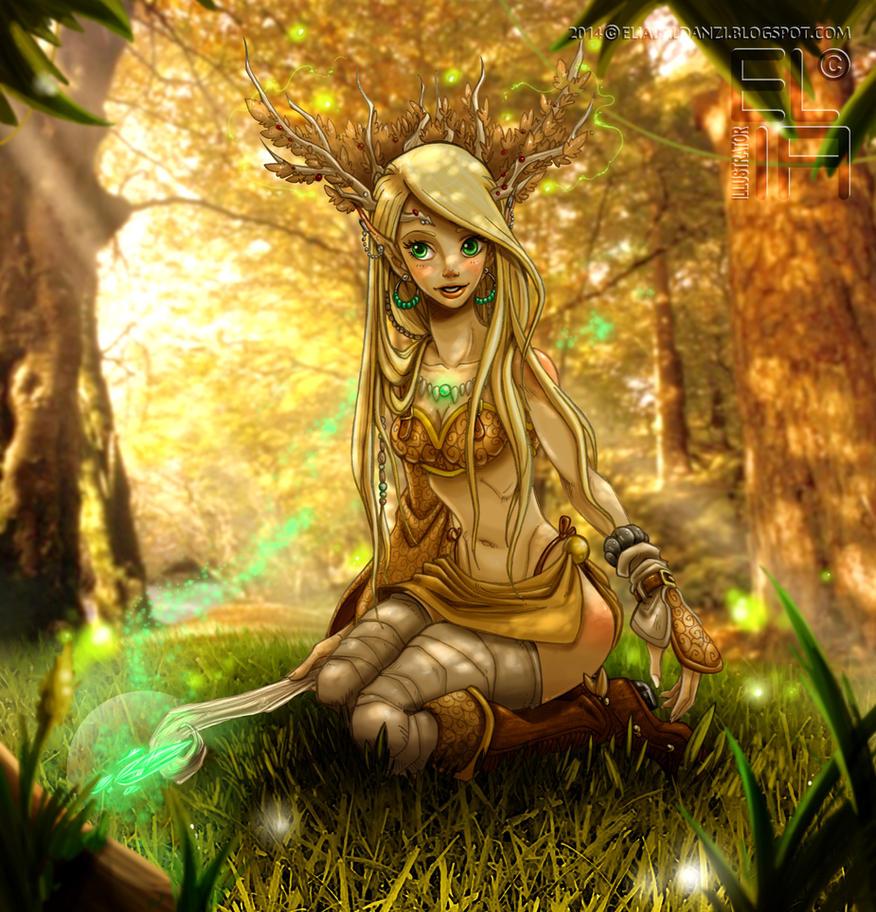 Erhyl the Druid by Elia87