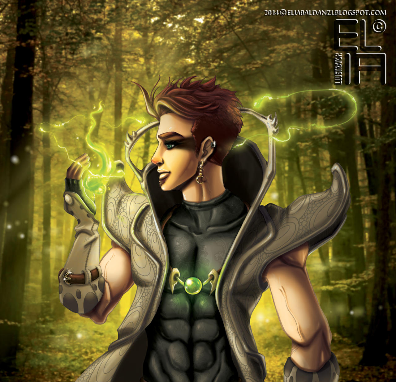 Edward Greeneyes, the Greenspirit by Elia87