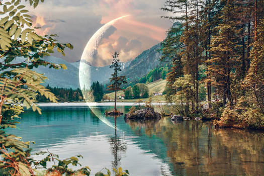 Scenic View of Lake Hintersee