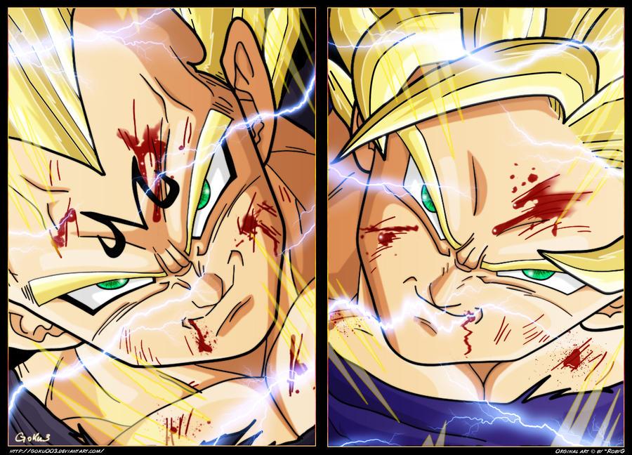 Goku Ssj4 Vs Goku Ssjd Quién Gana En Una Pelea Mi: Goku Ssj2 Vs Majin Vegeta