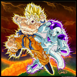 Goku VS Freeza by goku003