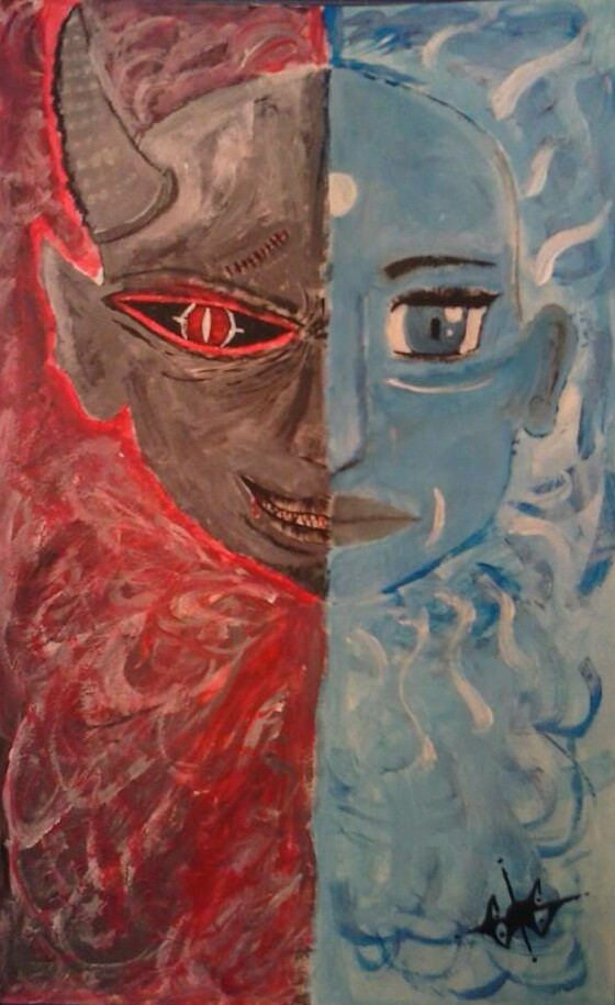 Duality of Man | Duality of man, Artwork, Art |Duality Of Man Painting