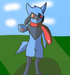 Zander the Riolu :Gift: by Forge-Master-Wolf