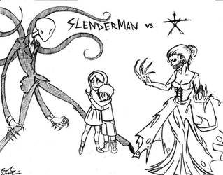 Slenderman VS. The Blair Witch by RobinElyce