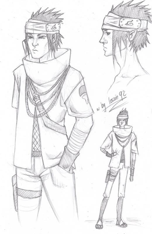 Sasuke (Naruto TLM): Sketches by lossie92