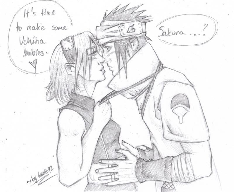 sasusaku (Naruto TLM): give your wifu a kiss by lossie92