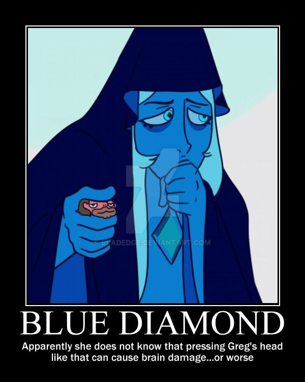 Blue Diamond on Human Body Struture by BLADEDGE