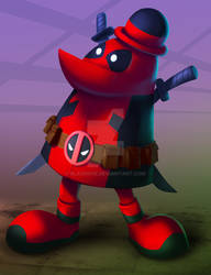 The Blue (imean Red) Midget Mercenary with a Mouth