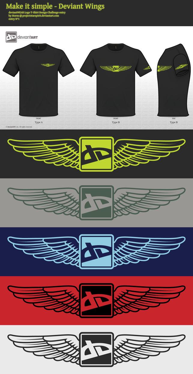 Make it simple - Deviant Wings by Storm-Engineer