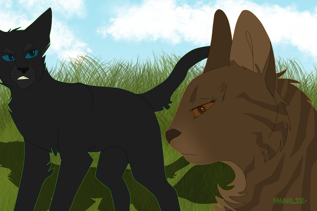 leafpool x crowfeather by nharlie on deviantart