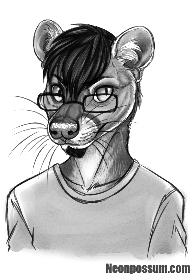Portrait by Neonpossum by Erkhyan