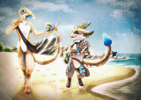 Commission - Collecting Shells