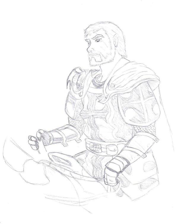 paladin sketch by TemplarWiegraf