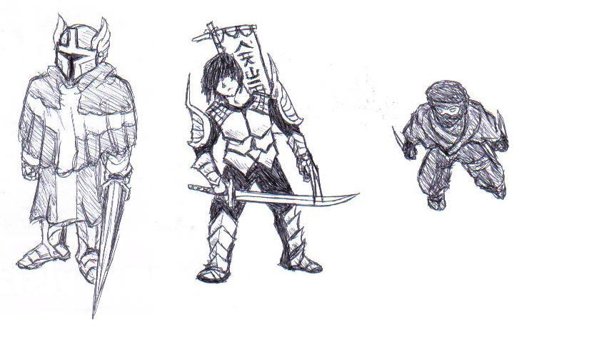 Knight, Samurai and Ninja by TemplarWiegraf