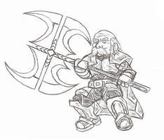 Dwarvish Giant AX by TemplarWiegraf