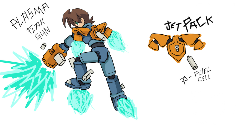 Megaman Legends 3 Weapon Contest Entry n1 and n2 by TemplarWiegraf