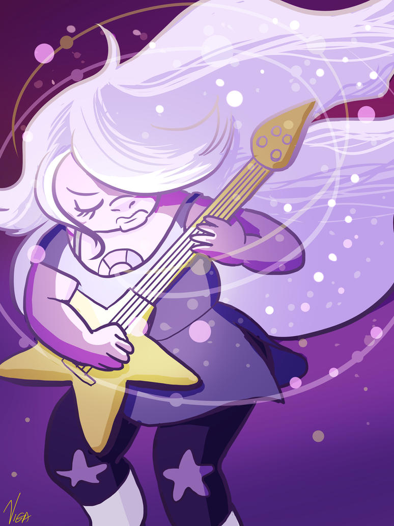 I drew a sketch of this months ago and finished it the other day. ROCK OUT, SPACE ROCK!