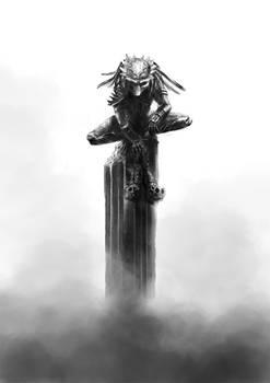 Predator's trophy skulls
