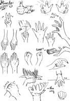 Manga hand practice 1 by Vitamin-Emo