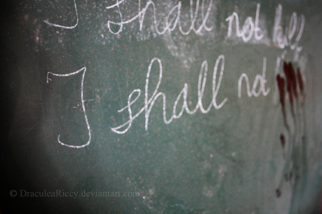 I shall not...