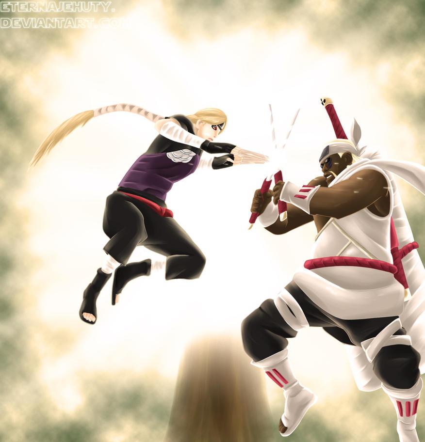 Yugito vs Killer Bee by EternaJehuty on DeviantArt