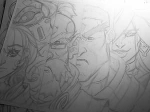 Battle Chasers character headshots
