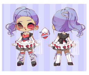 (OPEN) adopt #07 Magical dual hearts by Elm-adopts