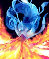 Kingdra used Dragonbreath by itsa-puck