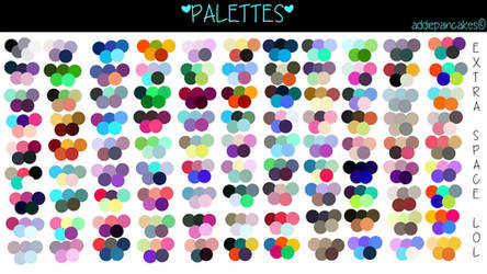 Big Palette #1: Pastel and Blues by AddiePancakes