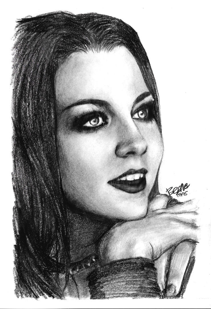 Amy Lee - Pencil Drawing by xbooshbabyx